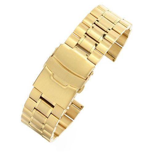 Złota stalowa bransoleta do zegarka SG2402- 24 mm
