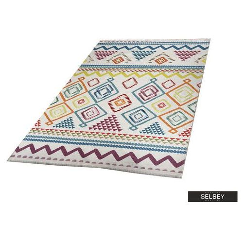 chodnik folkfur kolorowe wzory 75x300 cm marki Selsey