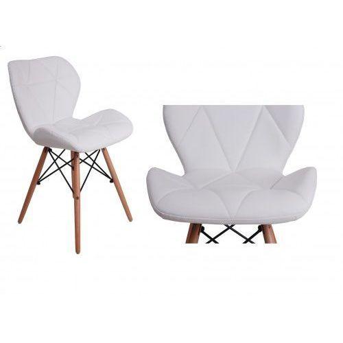 Krzesło tapicerowane MURET - biały, GK-0754