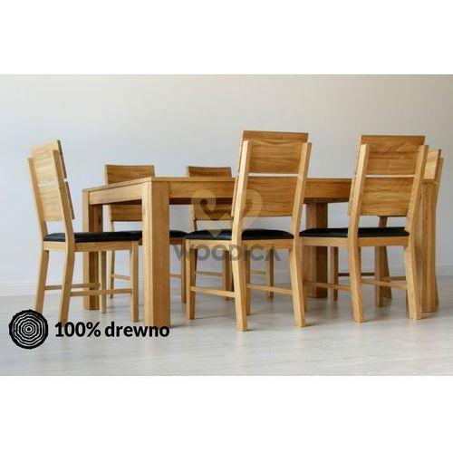 Woodica Stół dębowy klasyczny 02 rozkładany 80x75x80