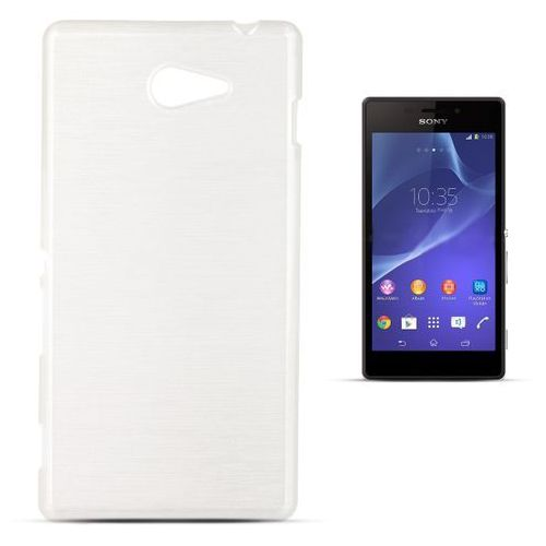 """Forcell """"jelly brush sony xperia m2 / m2 aqua"""" (white) (5901737290137)"""