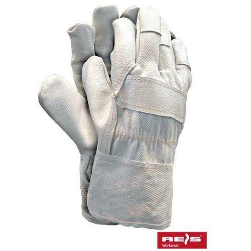 Rękawice robocze wzmacniane skórą licową RLCJ rozmiar 10