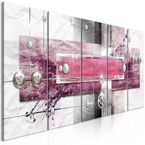 Obraz - tajemniczy mechanizm (5-częściowy) wąski różowy marki Artgeist