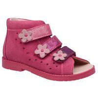 Dawid Sandałki profilaktyczne ortopedyczne buty 1041 różowy rb - różowy ||fuksja