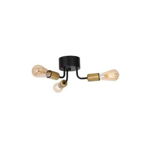 Luminex brenda 1061 plafon lampa sufitowa 3x60w e27 czarny złoty