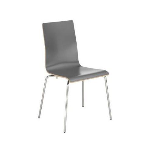 krzesło CAFE VII ALU/Black PLUS, kolor czarny