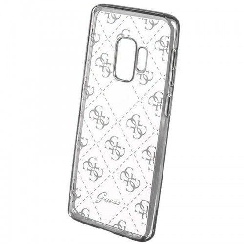 Guess 4G Transparent - Etui Samsung Galaxy S9 (srebrny), GUHCS9TR4GSI