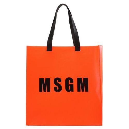 MSGM Torba na zakupy neon orange, kolor pomarańczowy