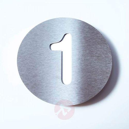 Tabliczka z numerem domu ROUND, stal szl. – 1