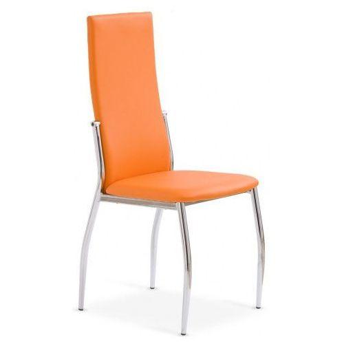 Tapicerowane krzesło Galder - pomarańczowe, kolor pomarańczowy