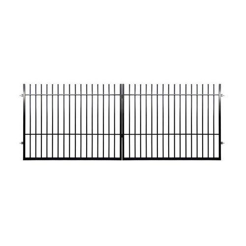 Brama dwuskrzydłowa milos 400 x 150 cm czarna marki Polbram