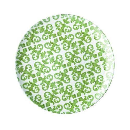 Guzzini - tiffany - talerz obiadowy le maioliche, zielony, 10291160