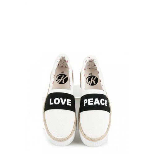 ESPADRYLE LOVE PEACE Biały