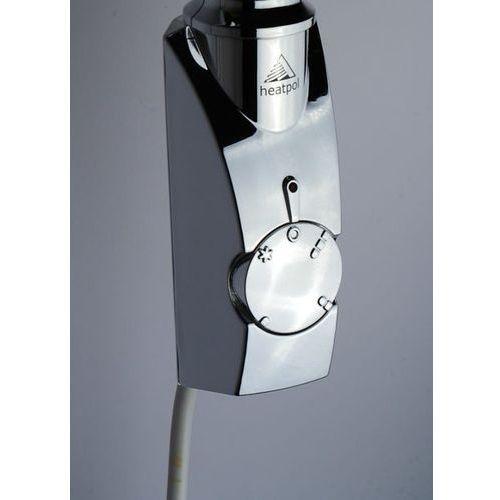 Grzałka elektryczna z termostatem – 600W, Chromowana, Kwadratowa