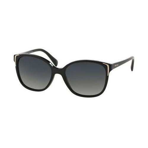 Okulary Słoneczne Prada PR01OSA Asian Fit Polarized 1AB5W1, kolor żółty
