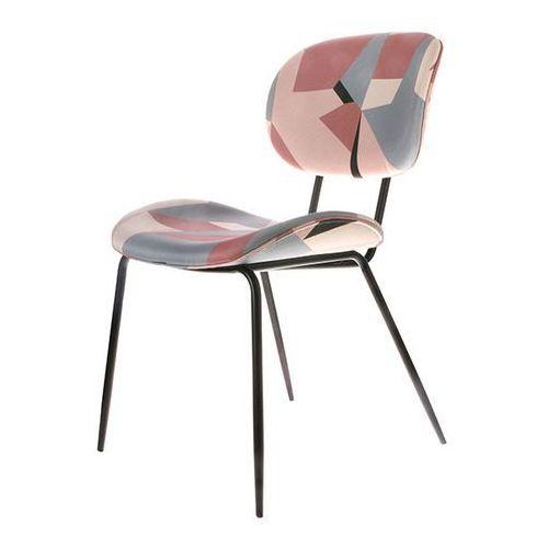Hk living Krzesło do jadalni z geometrycznym nadrukiem -