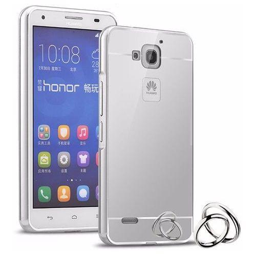 Mirror Bumper Metal Case Srebrny   Etui dla Huawei Honor Y3 II