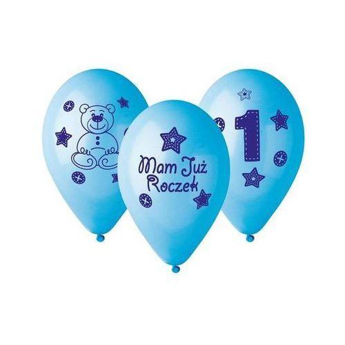 """Balony z nadrukiem dla chłopca """"Mam już roczek"""" - 30 cm - 5 szt."""