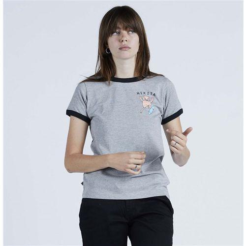 Koszulka - harmonic ss tee athletic heather - black (agh) rozmiar: s marki Nikita
