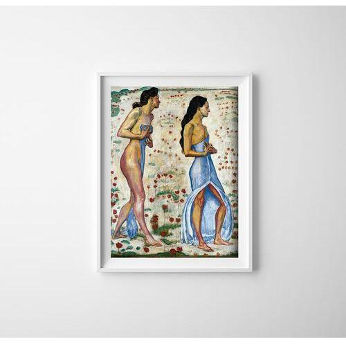 Vintageposteria.pl Plakat w stylu vintage plakat w stylu vintage dwie kobiety w kwiatach ferdinand hodler