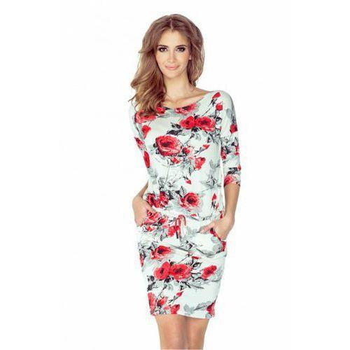 Sukienka Model 13-73 Kwiaty Black/Red