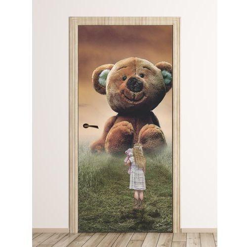 Fototapeta na drzwi dla dzieci dziewczynka z motylem fp 6021 marki Wally - piękno dekoracji