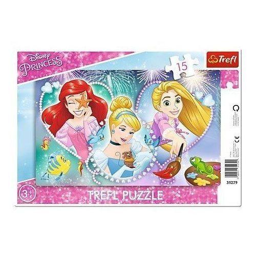Puzzle 15 Ramkowe Disney Księżniczki Trzy uśmiechy