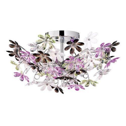 Trio rl flower r60014017 plafon lampa sufitowa 4x40w e14 chrom / wielokolorowy (4017807233995)