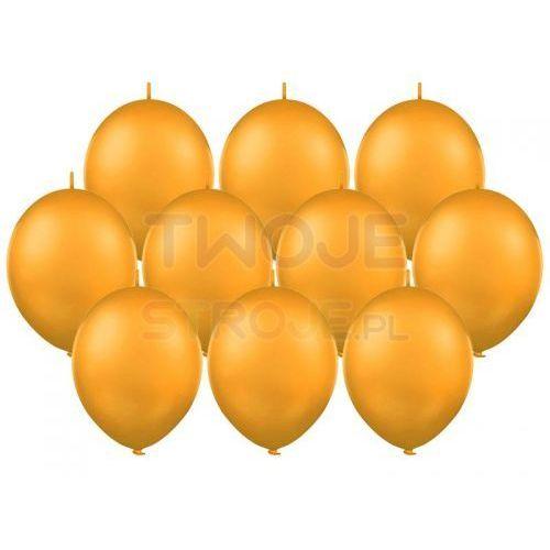Balony lateksowe pastel pomarańcz z łącznikiem 27 cm 10 szt. marki Twojestroje.pl