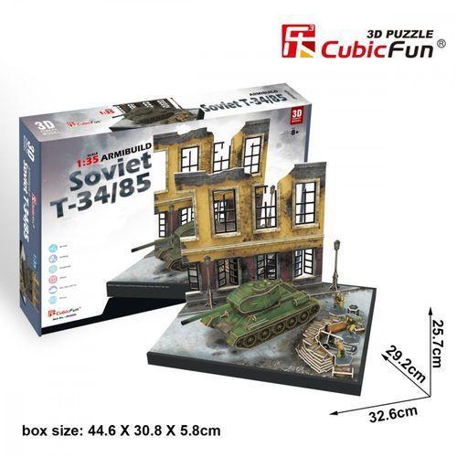 Cubicfun Puzzle 3d soviet t-34/85 213 elementów