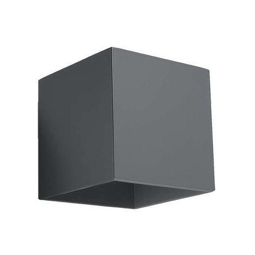 Lampa ścienna sl565 metalowa oprawa kwadratowy kinkiet kostka cube grafitowa marki Sol