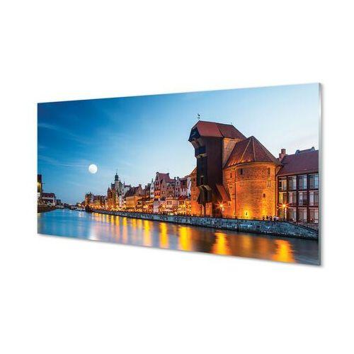 Obrazy akrylowe Gdańsk Rzeka noc stare miasto