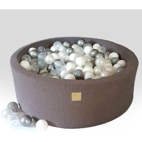 Ciemno szary basen + piłki do wyboru