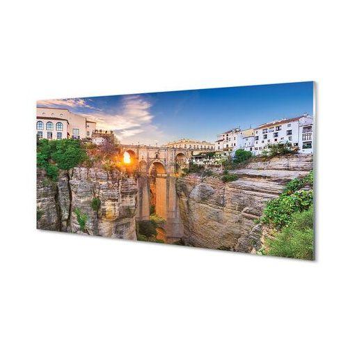 Obrazy akrylowe Hiszpania Most zachód słońca