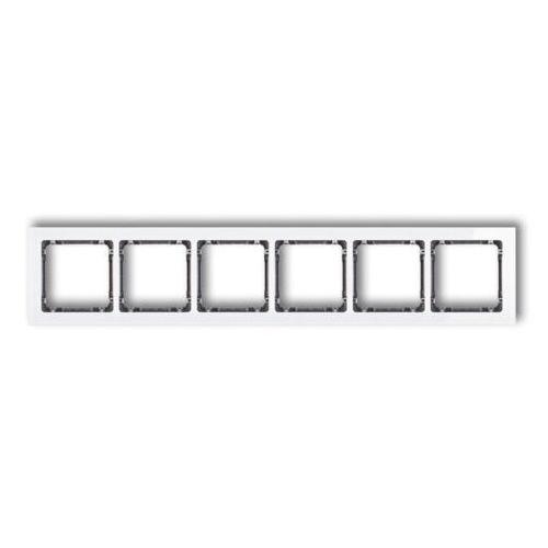 DECO Ramka uniwersalna sześciokrotna- efekt szkła (ramka: biała spód: grafitowy) biały 0-11-DRS-6