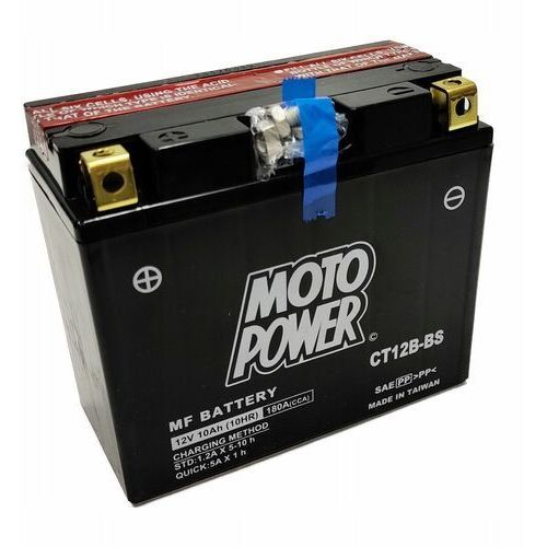 Akumulator motocyklowy moto power ct12b-bs yt12b-bs 12v 10ah 180a en l+ marki Yuasa