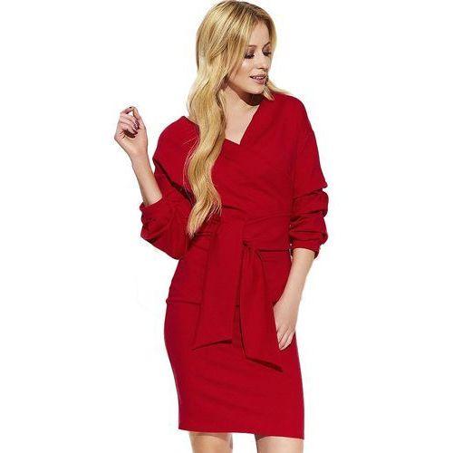 Makadamia sukienka damska 36 czerwona, kolor czerwony