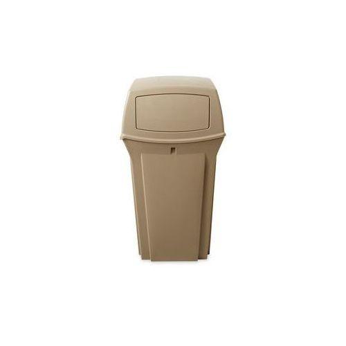 Pojemnik na odpady (PE), ogniotrwały,poj. 133 l, szer. x wys. x głęb. 546 x 1041 x 546 mm