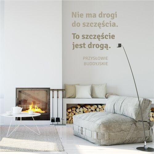 Wally - piękno dekoracji Szablon na ścianę przysłowie: nie ma drogi do szczescia 1963
