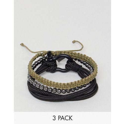 black combo bracelet in 4 pack - black marki Icon brand