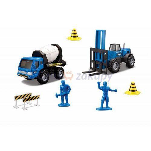 zestaw roboty drogowe (2) - betoniarka i wózek widłowy marki Maisto