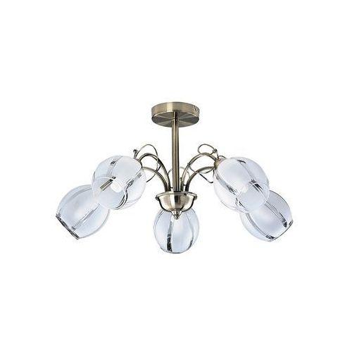 Lampa wisząca zwis Rabalux Joel 5x60W E27 brąz 2271