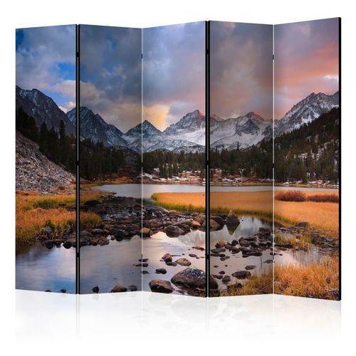Artgeist Parawan 5-częściowy - krajobraz górski - nadchodząca wiosna ii [room dividers]