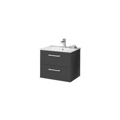Deftrans silesia / metro zestaw łazienkowy szafka w kolorze grafit połysk + umywalka