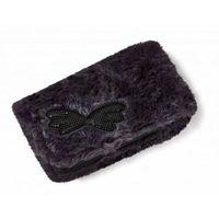 portfel antracyt 16x9,5cm z czarnymi skrzydełkami plusz (3)JM27