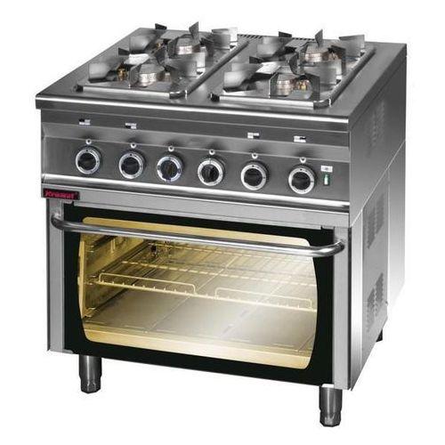Kuchnia gazowa 4-palnikowa z piekarnikiem elektrycznym | KROMET, 000.KG-4S/PE-2