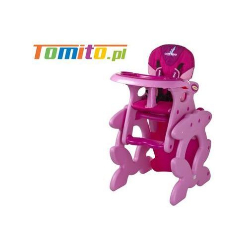 Caretero 2w1 krzesełko stolik do karmienia primus pink