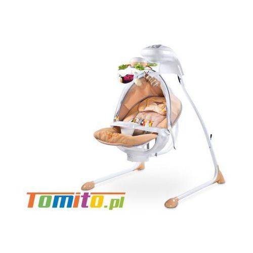 Huśtawka elektryczna bujaczek dla dzieci bugies beige marki Caretero