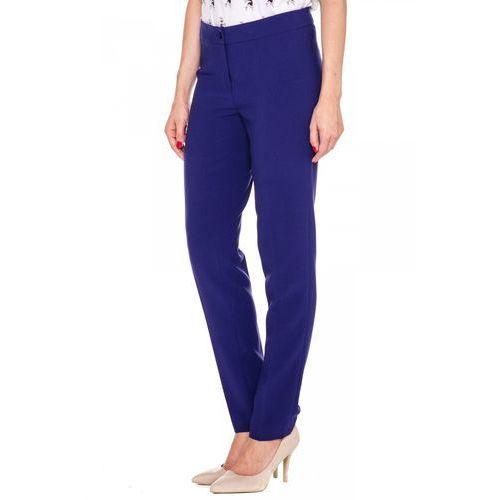 Eleganckie spodnie w kolorze fioletowym - Bialcon, kolor fioletowy