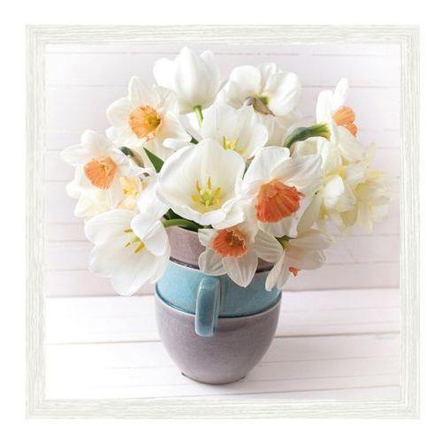 Obraz Białe kwiaty 30 x 30 cm (5901554521834)